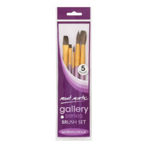 Ensemble de 5 pinceaux aquarelle (gallery series brush set watercolour), Mont Marte